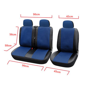 AUTOYOUTH Blue/Black 1 + 2 Seat Covers  For van / van Universal With Imitation Leather Color