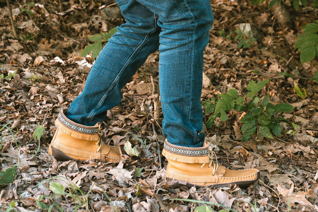 soft sole moccasins for hunting in the bush