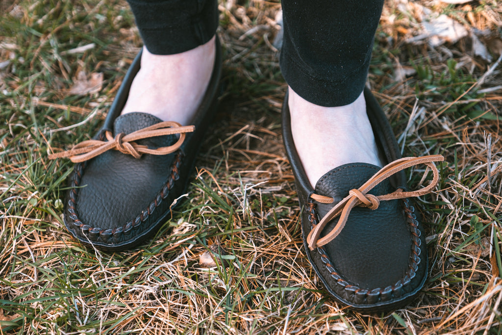genuine leather quality ladies moccasins
