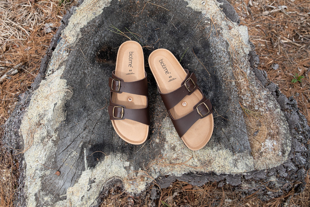 biotine earthing sandals with copper rivet