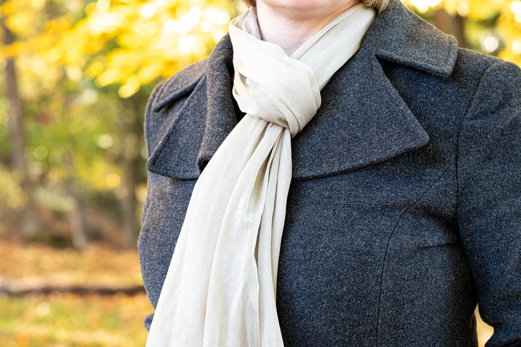 silver anti bacterial scarf