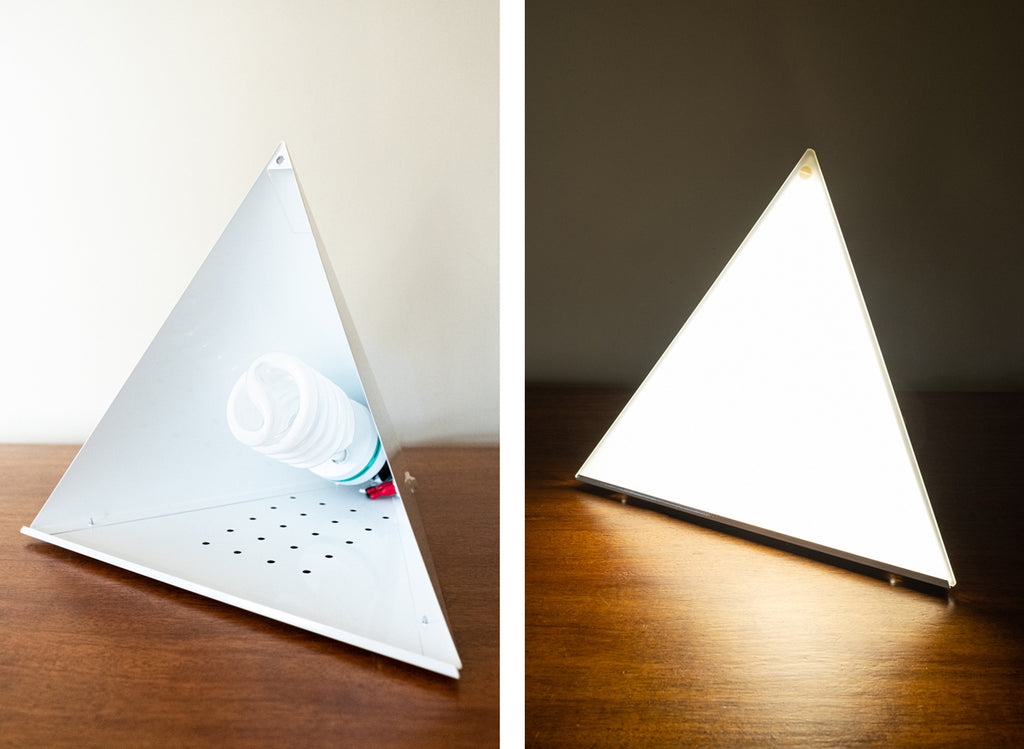light therapy pyramid helps SAD winter blues