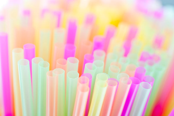 Picture of Bunch of Plastic Colorful Straws