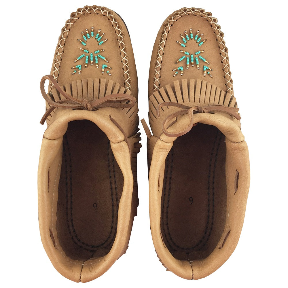 Women's Moosehide Ankle Moccasins with rubber soles B43163R (SIZE 5 & 9 ONLY)