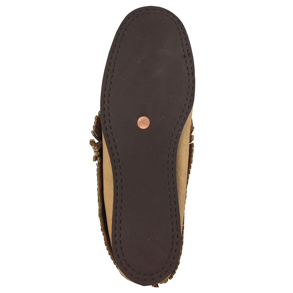 Women's Moosehide Ankle Moccasins with rubber soles B43163R