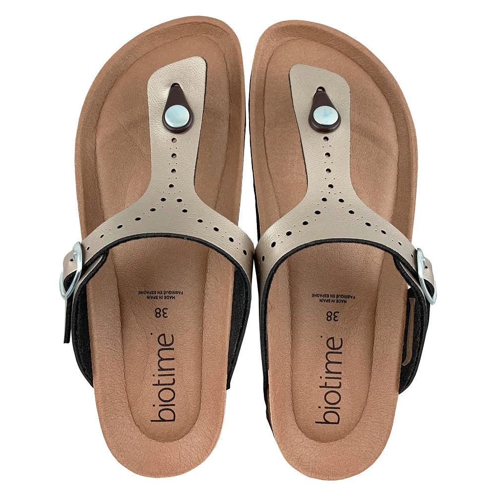 Women's Copper Rivet Biotime Brooke Earthing Sandals - Bronze