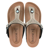 Women's Bronze Copper Rivet Biotime Brooke Earthing Sandals