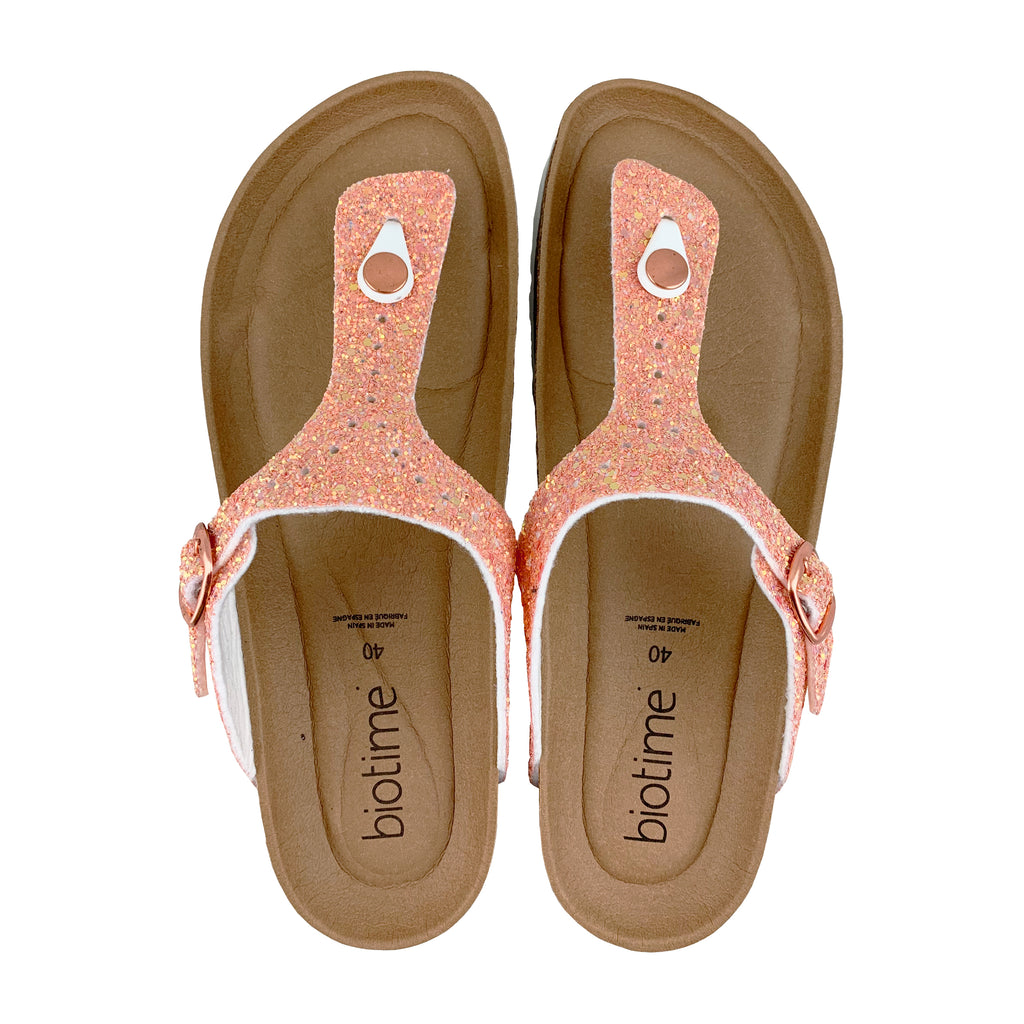 Women's Brooke Coral Sparkle Copper Rivet  Biotime  Earthing Sandals