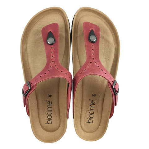 Women's Copper Rivet Cranberry Biotime Brooke Earthing Sandals