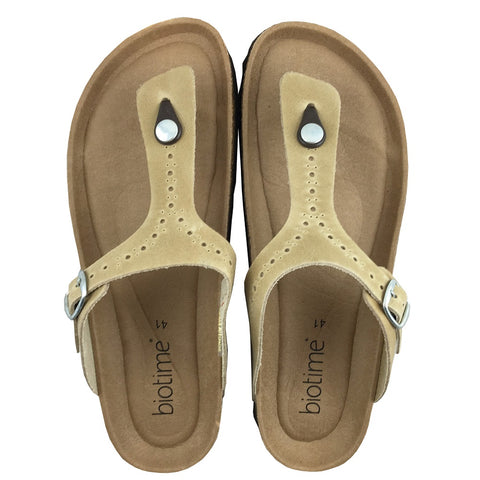 Women's Copper Rivet Taupe Biotime Brooke Earthing Sandals (ONLY 41 LEFT)