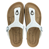 Women's White Pearl  Copper Rivet Biotime Brooke Earthing Sandals