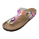 Women's Copper Rivet Floral Biotime Brooke Earthing Sandals