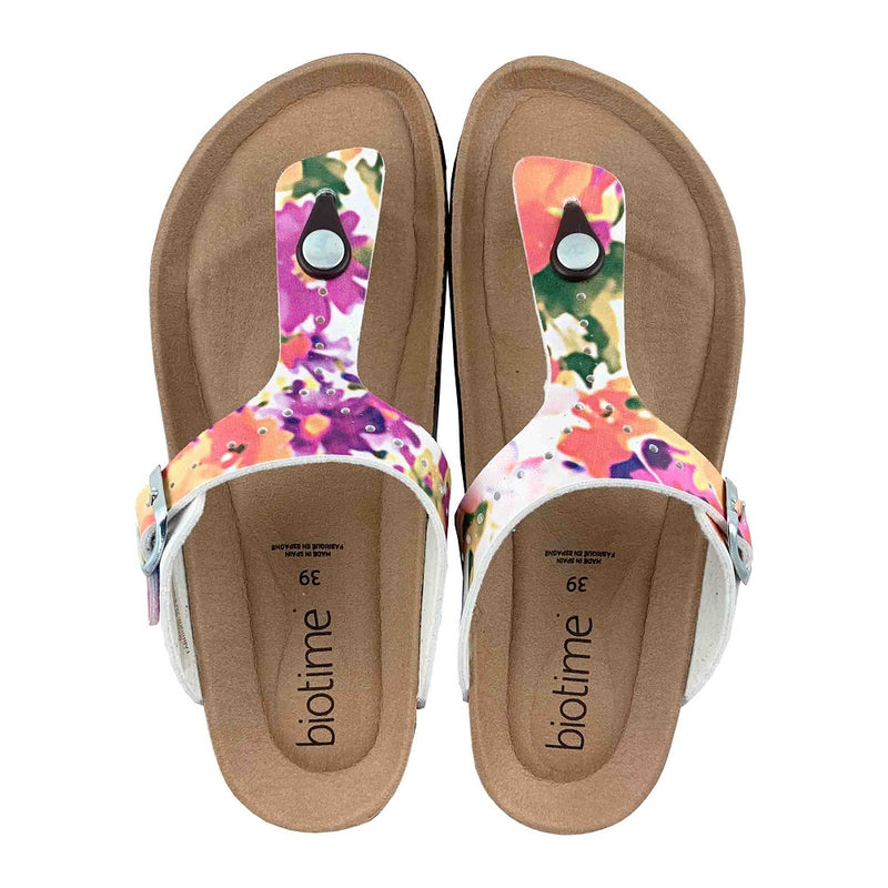 Women's Copper Rivet Floral Biotime Brooke Sandals for Earthing (Size 40 ONLY)