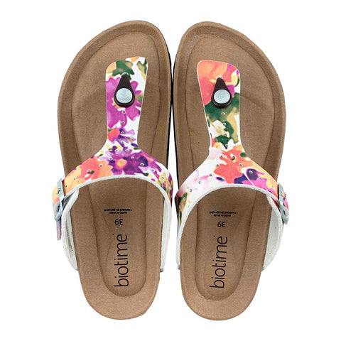 Women's Floral Copper Rivet Biotime Brooke Earthing Sandals