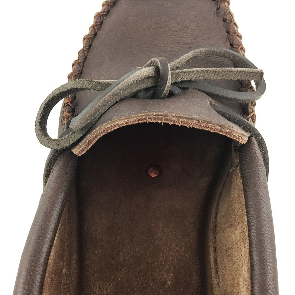 Men's Earthing Rubber Sole Moosehide Leather Moccasins KB762R-M