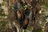 Men's Minimalist Buffalo Hide Moccasins for Earthing BB110M