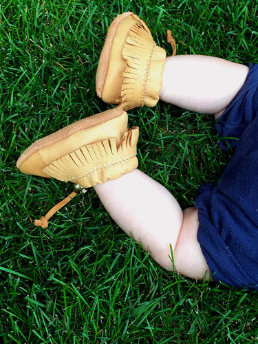 Baby Moosehide Leather Earthing Moccasins