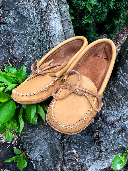 Women's Moosehide Moccasins for Earthing BB3107L