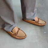 Men's Moosehide Earthing Moccasins Oil Tan BB495M