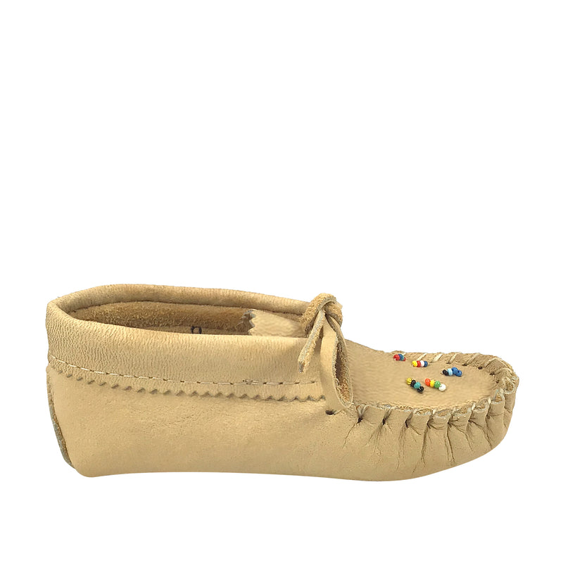 Children's Beaded Moose Hide Leather Moccasins 4337