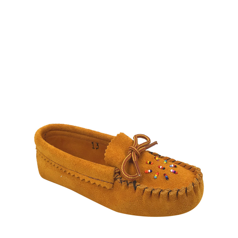 Children's Beaded Suede Leather Moccasins 120