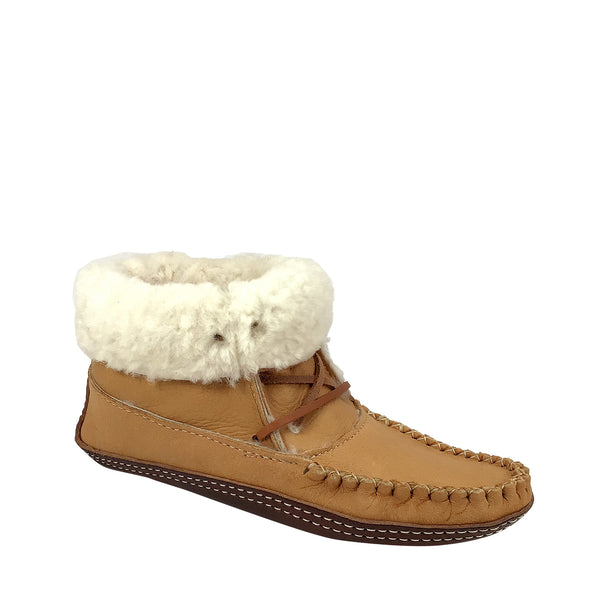 Women's Moose Hide Sheepskin Lined Winter Boots for Earthing BB41715L