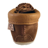 Junior Moose Hide Suede Copper Rivet Crepe Sole Moccasins 13126DK-JR-R