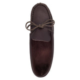 Men's Dark Mahogany Leather Moccasins for Earthing BB86