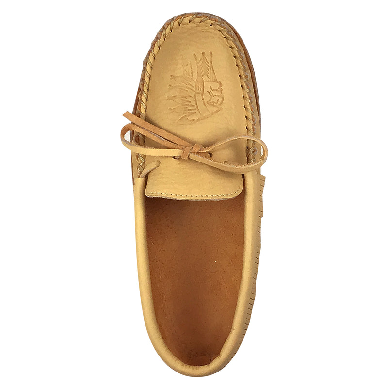 Men's Moosehide Fringed Moccasins for Earthing BB7575M