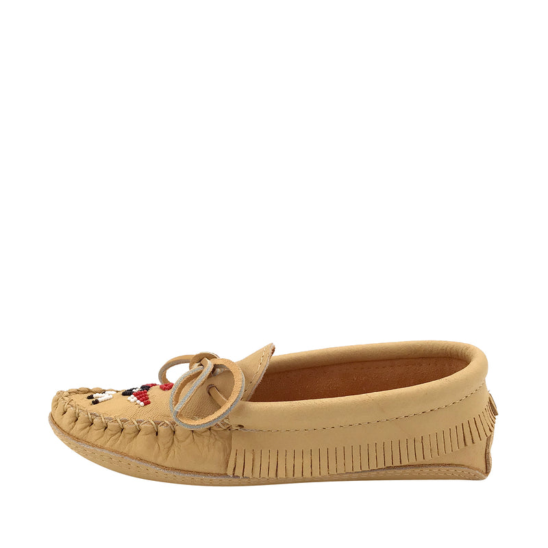 Women's Moosehide Fringed Moccasins for Earthing BB7574L