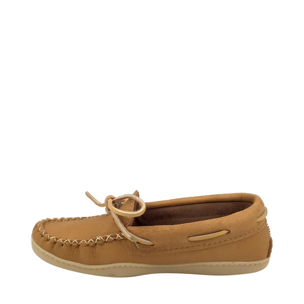 Women's Cork Copper Rivet Rubber Sole Moccasins KB831R-L