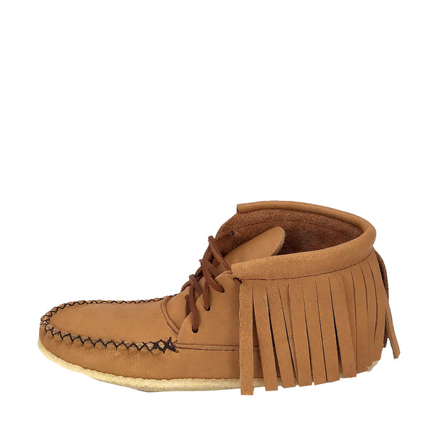 Women's Fringe Ankle Copper Rivet Moccasins B04219R