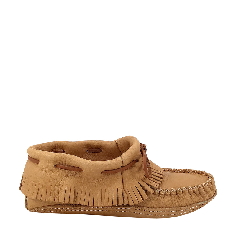 Women's Moosehide Ankle Moccasins for Earthing BB468-N