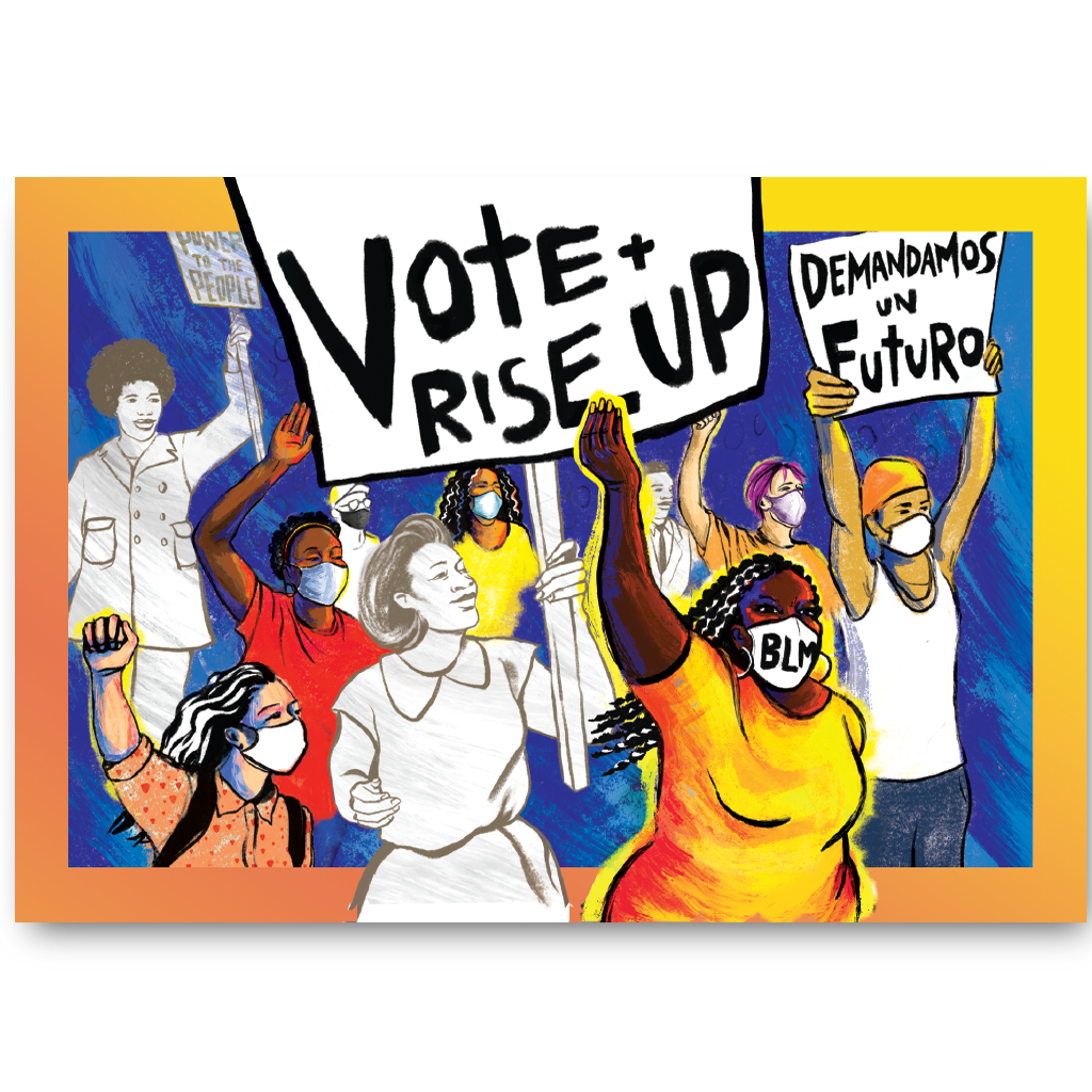 Vote and Rise Up (Pack of 100)