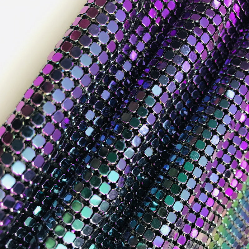 Colorful Metal Aluminum Rhinestone Fabric Mesh Sheet Metal Mesh Sheet Covering DIY Bar,Clothing,Evening Dress,Coverings,Disco Crop,Necklace