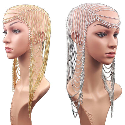 Head Chain Head Jewelry,Body Chain,Princess Hair Jewelry,Hair Accessories,Head Piece,Chain Headpiece,Silver Head Jewelry Goddess Headpiece