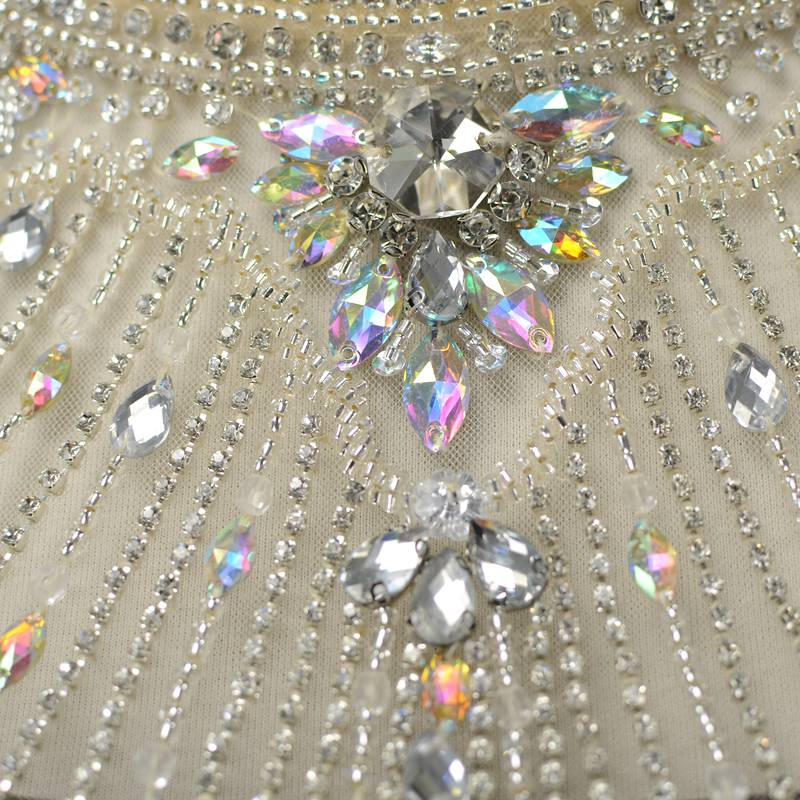 Gorgeous Rhinestone Handmade Crystal Applique Shawl Cape For Bridal Wedding Dress Haute Couture Bridal Bling Shoulder Necklace jewelry Trim