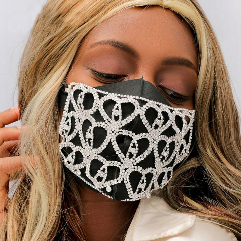 Luxury Bling Facemask Rhinestone Face Jewelry mask decoration Sparkling Crystal Mask Sexy night Club Summer Party Halloween Jewelry Veil