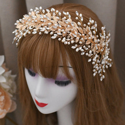 Bridal tiara Wedding tiara Bridal hairpiece Rhinestone tiara Rhinestone crown Wedding headband pearl headband Bridal hair piece Bridal crown