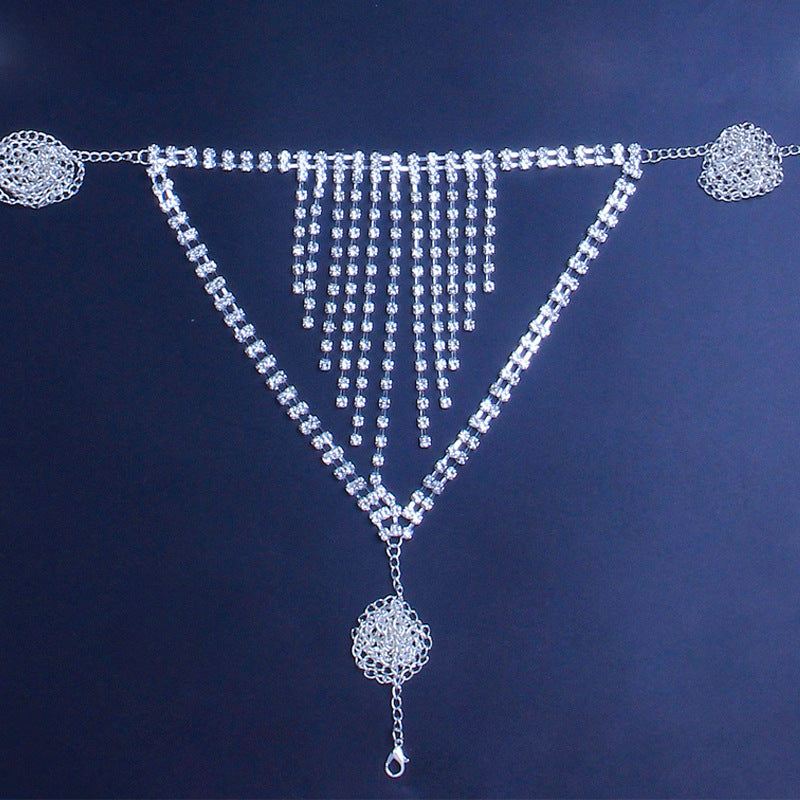 Mesh Rhinestone body Chain Bra Nipples Jewelry Hollow Out Bikini Bra gifts her Festival bra thong Vintage Crystal Rhinestone Bra Chain