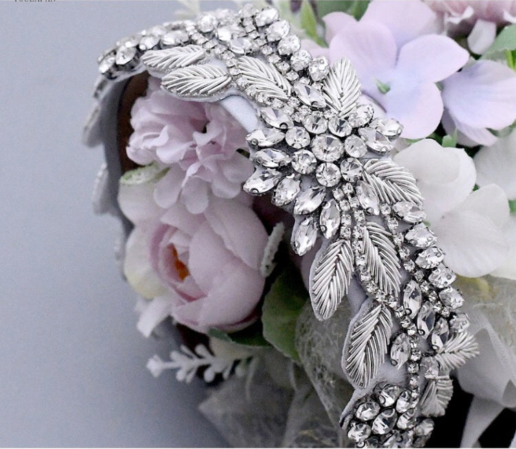 Sparkle Rhinestone Decorated Shiny headband Wide Hairband Thick Headband, Hair hoop, bullion wire Headband Crystal Bridal Hair Accessory