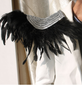 1 Pair Feather Shoulderpiece Epaulettes performance costume Brooch Spike Tassel Epaulet Shoulder Board Festival Punk Cosplay Dance decoration