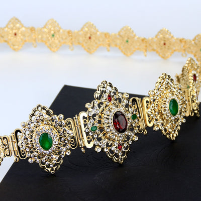 Discount Moroccan Caftan Belt for Women Wedding Dress Body Jewelry Gold Color Metal Link Chain Adjustable Length Bride Gift