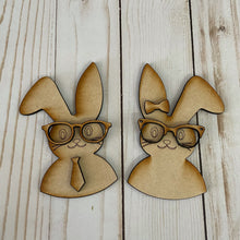 Load image into Gallery viewer, Nerdy Bunnies (set of 2)
