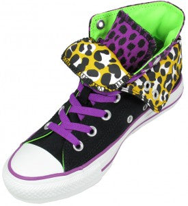 Converse All Star Hi Double Tongue Black Leopard 1