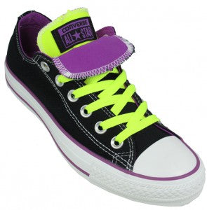 Converse All Star Lo Black Neon Yellow 1