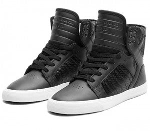 Supra Womens Skytop Black White 1