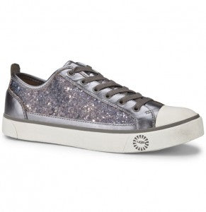 New Ugg Boots Womens Evera Silver Glitter Trainers