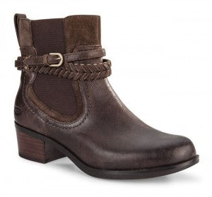 New Ugg Boots Womens Krewe Leather Chocolate