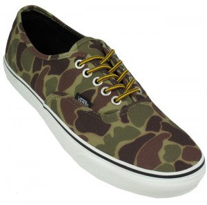 Vans Authentic Trainers for Men in Waxed Camo